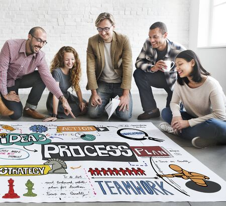 method: Process Operation Method Production Organization Concept Stock Photo