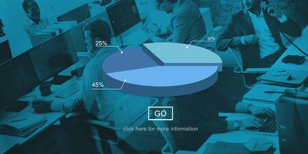 round collar: Pie Dough Graph Chart  Statistics Concept Stock Photo