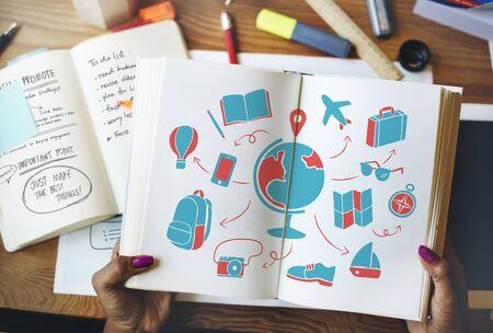 Mondiale Global Travel Plan Turismo concetto