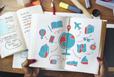 World Global Travel Plan Tourism Concept