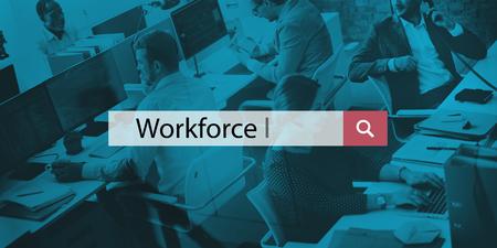staffing: Workforce Company Hiring Organization Staffing Concept Stock Photo