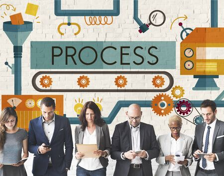 hiring practices: Process Method Production Operation System Concept Stock Photo