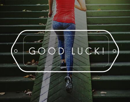 fate: Good Luck Chance Fate Fortune Positive Success Concept Stock Photo