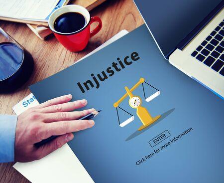 injustice: Injustice Inequity Conflict Rebellion Antagonism Concept