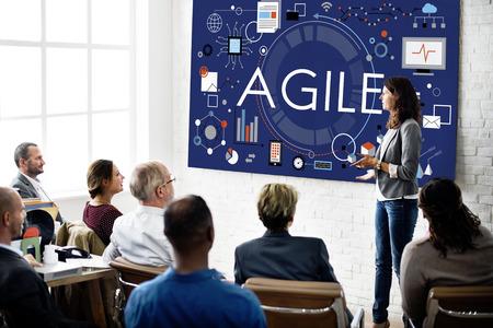 Agile Agility Nimble Snel Fast Volant Concept Stockfoto