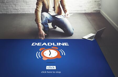 second floor: Time Alarm Deadline Countdown Concept Stock Photo