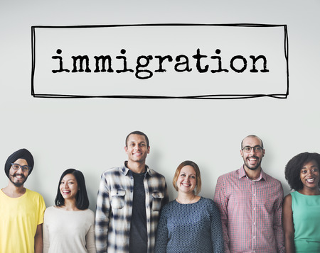 migrate: Immigration Immigrants Migrate Move Aboard Concept