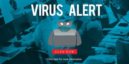 horse collar: Scam Virus Spyware Malware Antivirus Concept Stock Photo