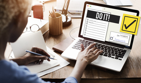organise: To Do List Organise Checklist Word Concept Stock Photo