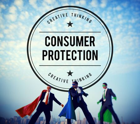 consumer rights: Consumer Protection Legal Rights Regulations Concept Stock Photo