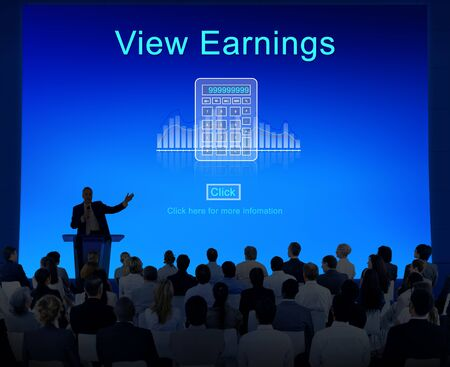 average guy: Profit Savings View Earnings View Total Amount Concept