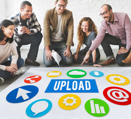 Upload Post Technology Word Graphic Concept Stock Photo