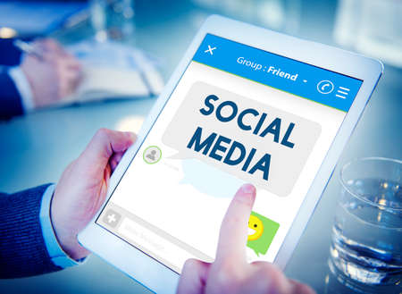socialise: Social Media Stay Connected Concept
