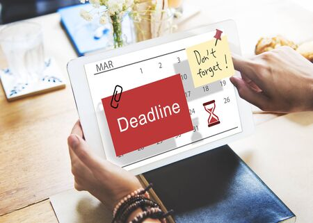 cutoff: Deadline Note Calendar Planner Concept