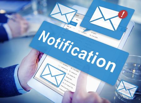 Concepto de notificación de alerta Icono de Internet de la Red Digital Foto de archivo
