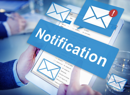Notification Alert Digital Icon Internet Network Concept Stock Photo