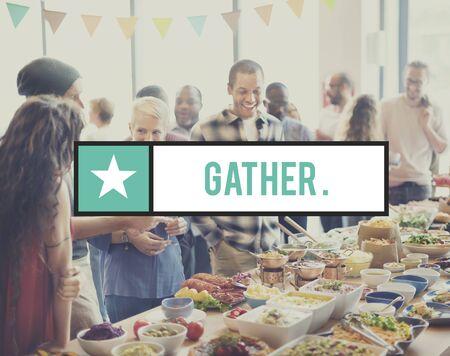 gather: Gather Gathering Community Society Corporate Teamwork Concept