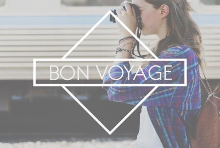 backpacking: Bon Voyage Backpacking Travel Destination Journey Concept