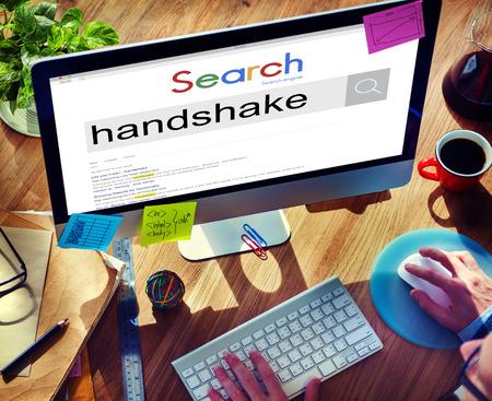 bargain: Handshake Greeting Bargain Agreement Deal Concept Stock Photo