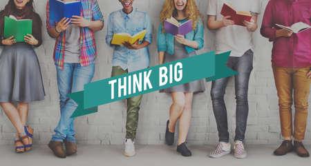 studens: Think Big Attitude Faith Inspiration Possible Concept