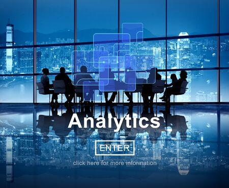 Analytics Data Analysis Information Internet Concept Stock Photo