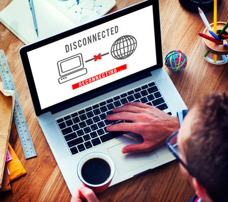 disconnect: Disconnected Disconnect Error Inaccessible Concept Stock Photo
