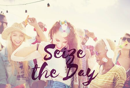 festival moment: Seize the Day Collect Moment Enjoyment Positive Concept