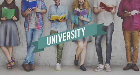studens: University Campus Academic College Community Concept