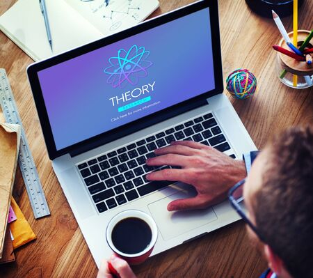 the experimental: Theory Balance Experimental Function Science Concept Stock Photo