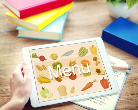 toolbar: Menu Choice Food Beverage List Selection Option Concept Stock Photo