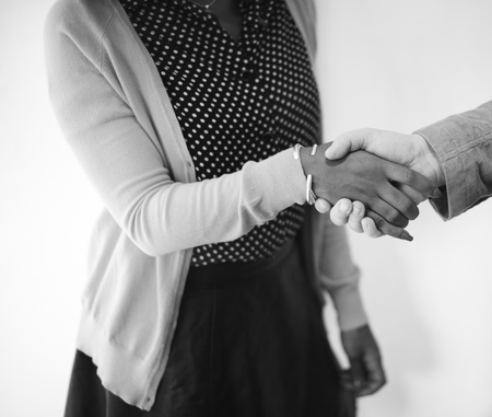 acquaintance: Handshake Gesturing People Connection Deal Concept Stock Photo