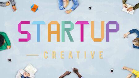 start up: Start Up Development Enterprise Launch Growth Concept Stock Photo