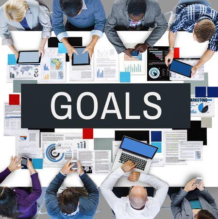 man business oriented: Goals Inspiration Target Motivation Mission Aim Concept