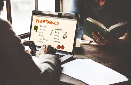 shopping list: Vegetables Nutrition Shopping List Concept
