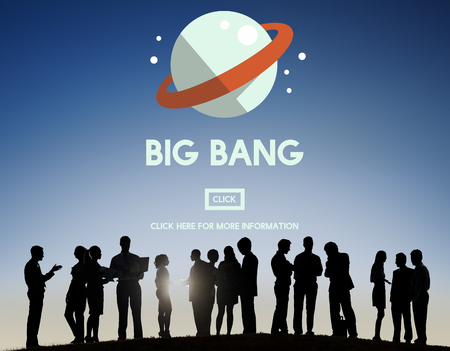 astronomy: Astronomy Big Bang Planet Spaceship Concept