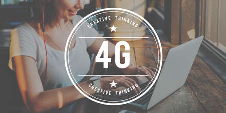 4g: 4G Wireless Technology Digital Connection Network Concept