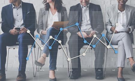 Linea di business concetto grafico dei dati anaysis