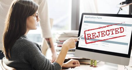refused: Rejected Declined Negative Document Form Concept Stock Photo