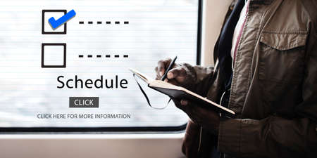 manage transportation: Checklist Choices To Do Audit Evaluation Concept Stock Photo