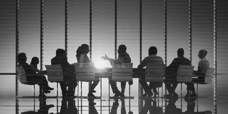 backlit: Business Meeting Backlit Professional Strategy Concept