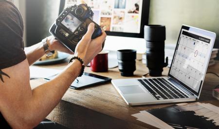 Concepto El fotógrafo Periodista Agencia de Trabajo Studion