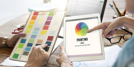 mixing: RGB Printing Palette Mixing Colour Concept Stock Photo