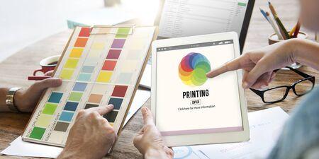 calibration: RGB Printing Palette Mixing Colour Concept Stock Photo