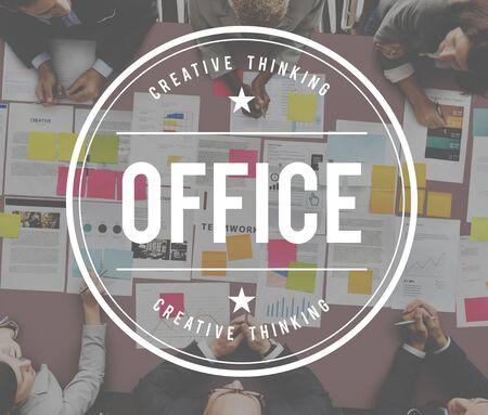 bureaucratic: Office Business Commercial Workplace Workspace Concept