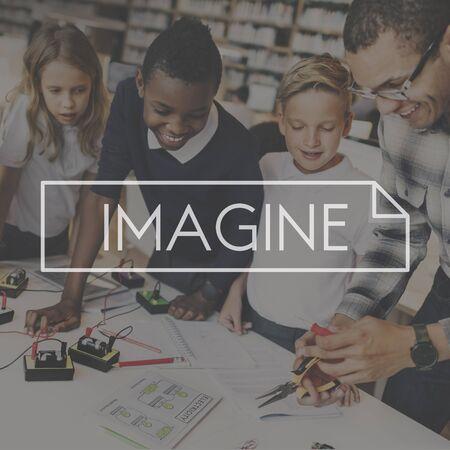 envision: Imagine Imagination Ideas Creativity Envision Concept