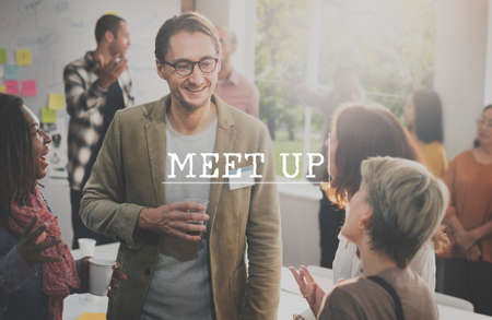 socialize: Meet Up Assembly Conference Cooperation Forum Concept