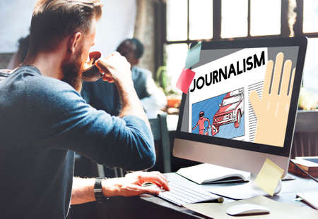 article: Journalism News Interview Article Content Concept Stock Photo