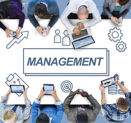coordination: Management Business Leader Coordination Graphic Concept