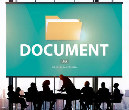 archives: Files Index Content Details Document Archives Concept Stock Photo