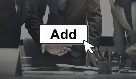 add button: Click Add Button Interface Concept